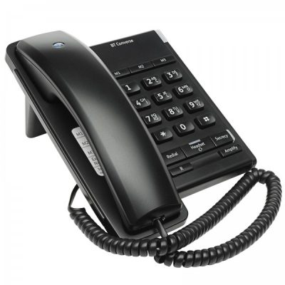 BT Converse 2100 Black Corded Telephone